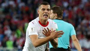 Granit Xhaka Switzerland Serbia World Cup 2018