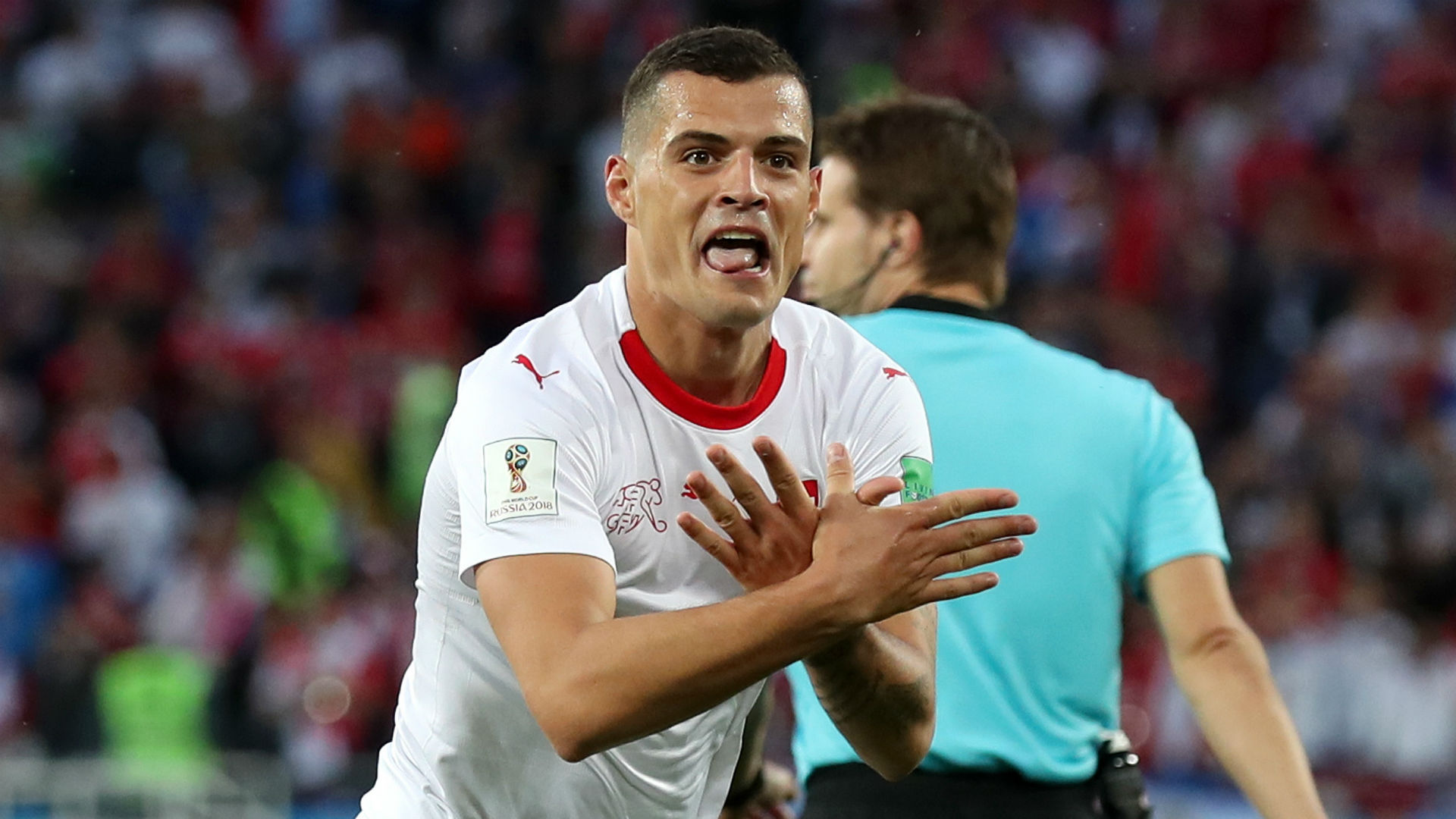 Granit Xhaka Switzerland Serbia World Cup 2018