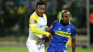 Cape Town City v Mamelodi Sundowns, Zukile Kewuti and Lebohang Maboe, March 2019