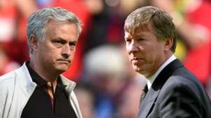 GFX Jose Mourinho Sir Alex Ferguson Manchester United