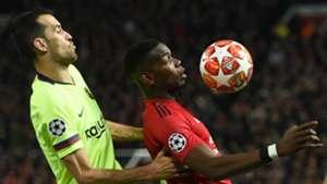 Sergio Busquets Paul Pogba Manchester United Barcelona UCL 10042019
