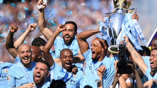 Manchester City Premier League title 2017-18
