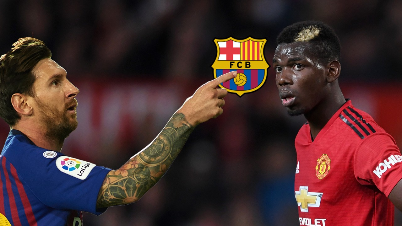 Image result for Pogba to Barcelona rumours fuelled as Man Utd star meets Messi in Dubai
