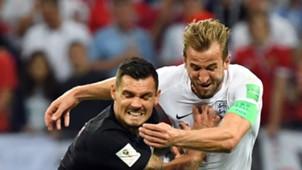 Dejan Lovren Harry Kane Croatia England 11072018