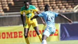 Andrew Juma of Mathare United and John Avire of Sofapaka.