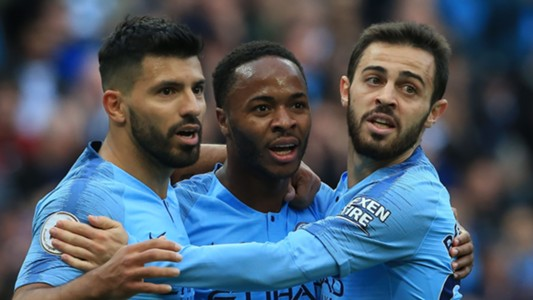 Aguero, Sterling, Bernardo Silva, Man City