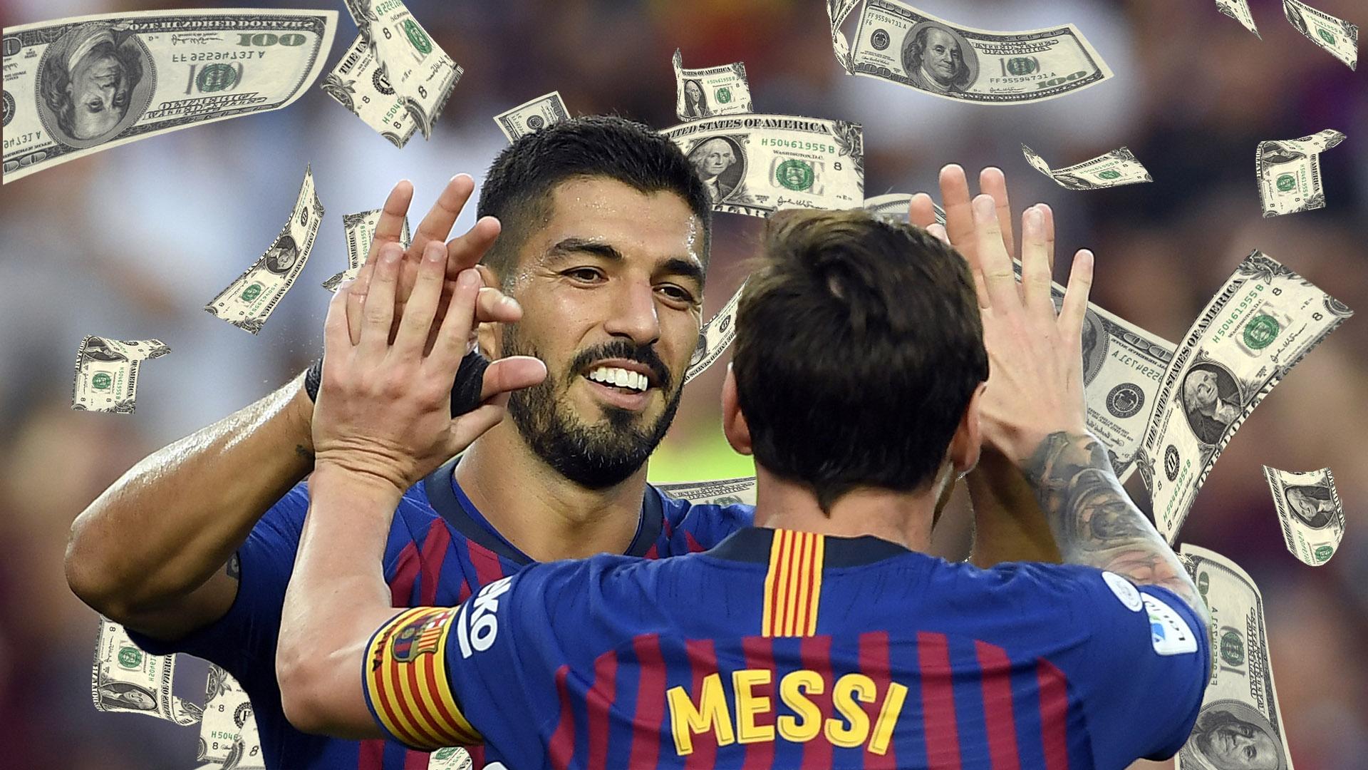 ผลการค้นหารูปภาพสำหรับ บาร์ซาทุบสถิติจ่ายค่าจ้างทีมกีฬาโลก