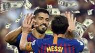 Luis Suarez Lionel Messi Barcelona 2018