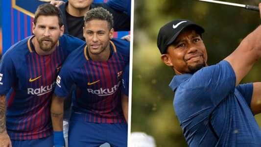 Lionel Messi Neymar Tiger Woods