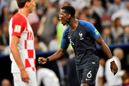 Paul Pogba France Croatia 15/07/18