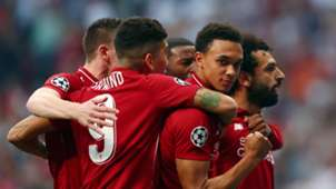 Liverpool celebrate vs Tottenham, Champions League final 2018-19