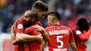 Lucas Moura Thomas Meunier PSG Bastia Ligue 1 06052017