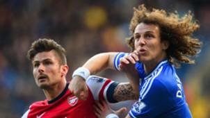 Olivier Giroud Arsenal David Luiz Chelsea