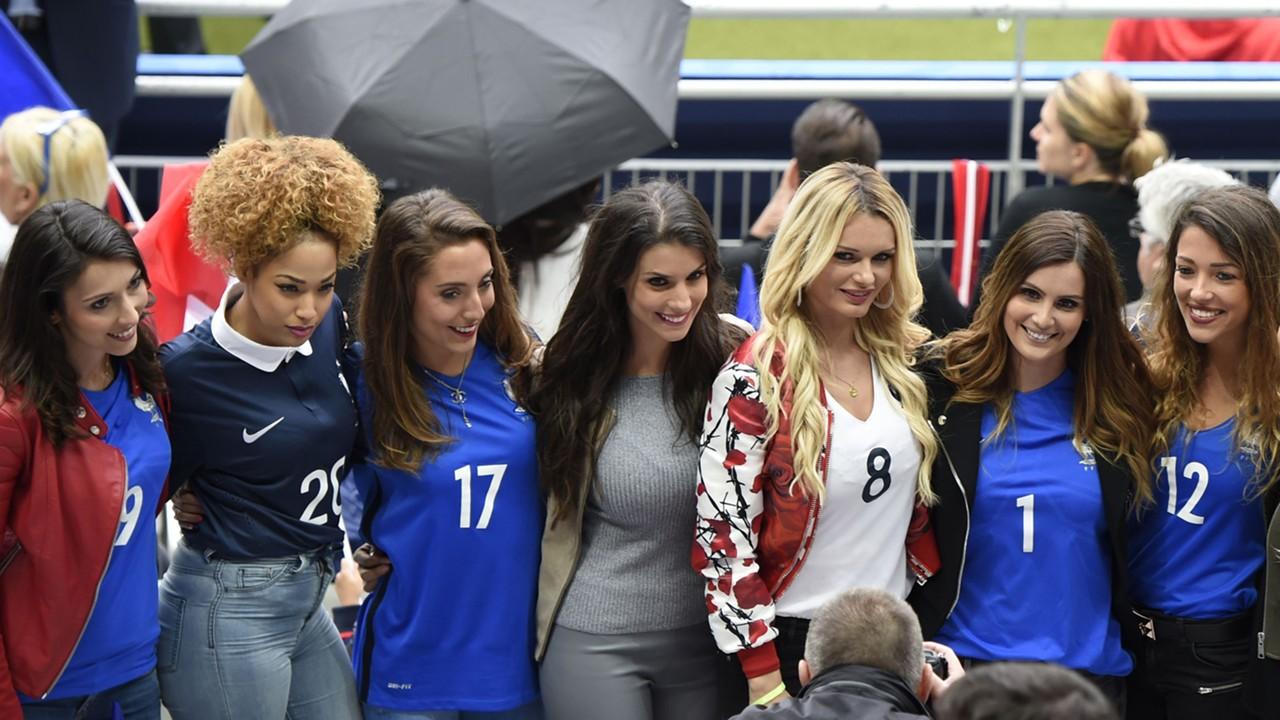 France WAGs at Euro 2016