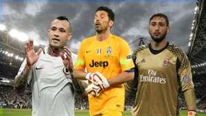 Serie A Buffon Nainggolan Donnarumma 11052017