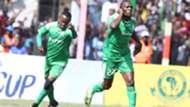 Meddie Kagere and Francis Kahata of Gor Mahia v Simba.
