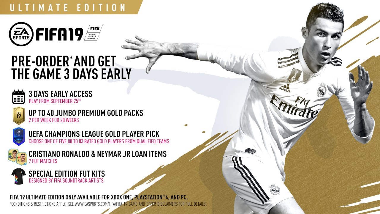 Embed only FIFA 19 Ultimate Edition offers
