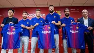 Neymar Piqué Messi Arda Barcelona Rakuten Japão 13 0717