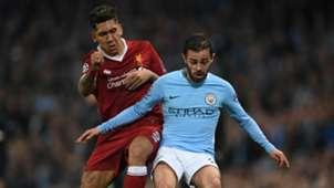Bernardo Silva Roberto Firmino Manchester City Liverpool UEFA Champions League