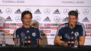 Mario Gomez Mats Hummels Deutschland 13082013