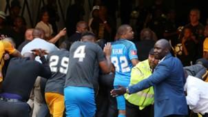 Kaizer Chiefs leave FNB Stadium - April 2018