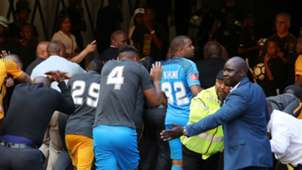 Kaizer Chiefs leave FNB Stadium - April 2018