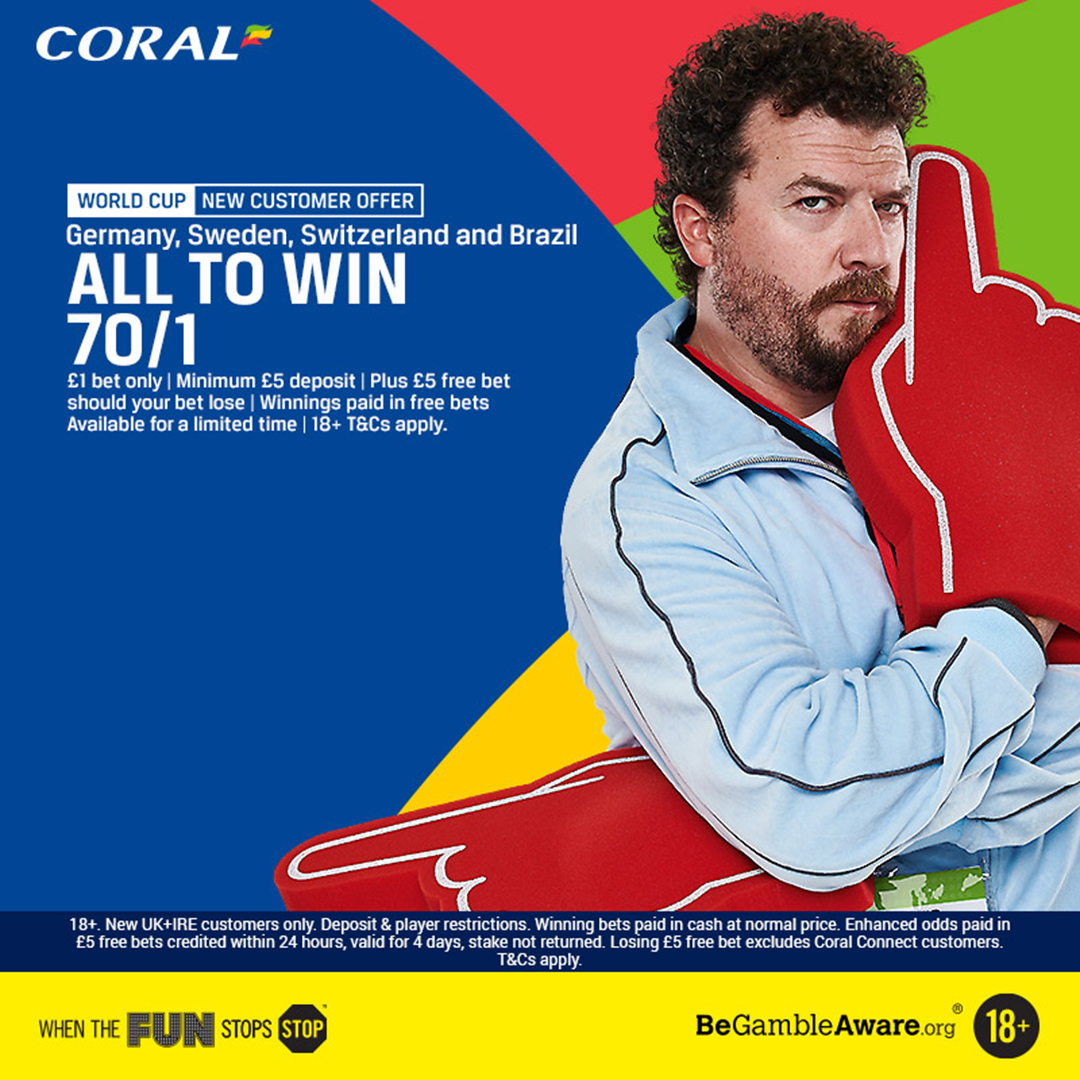 Coral new customer 70/1 enhanced offer