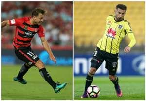 Brendon Santalab Western Sydney Wanderers Kosta Barbarouses Wellington Phoenix A-League