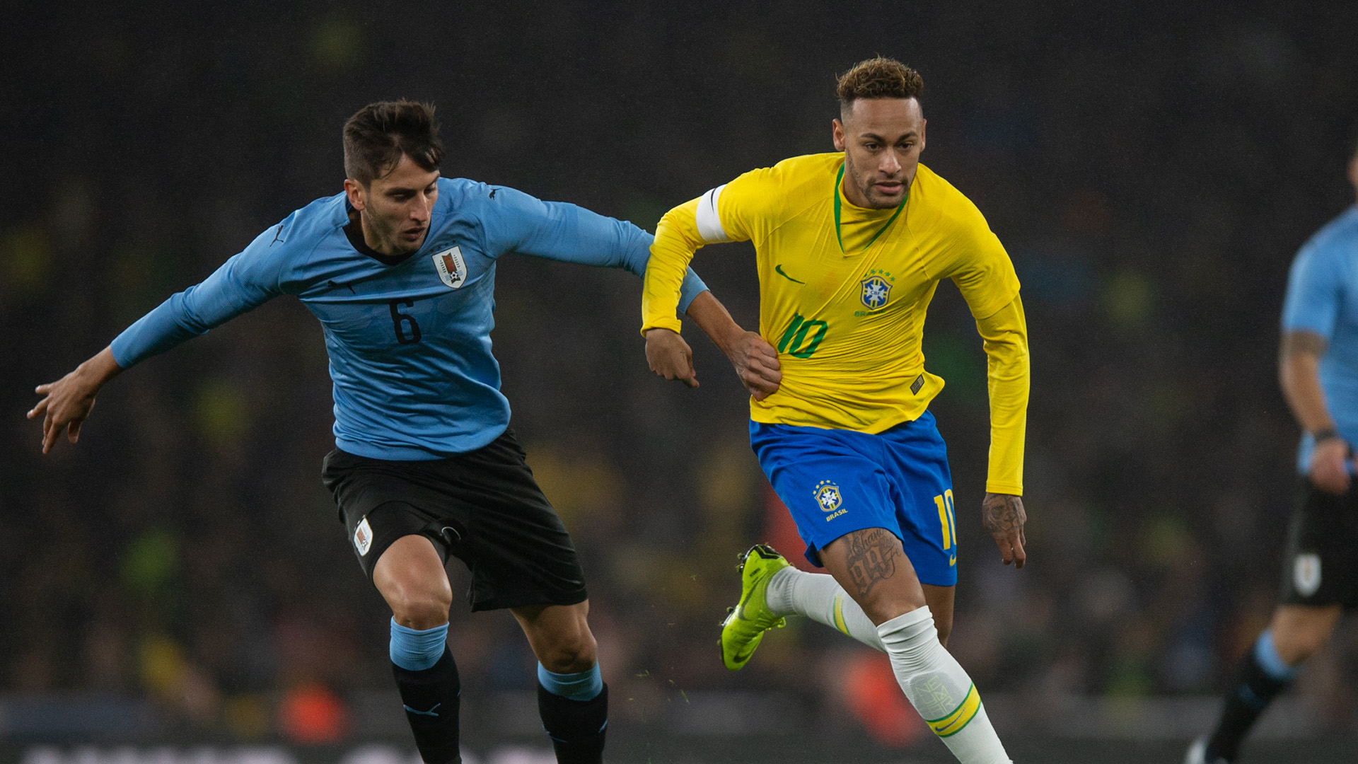 Rodrigo Betancur Neymar Brazil Uirsgeulan Uruguay 16112018