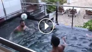 Video Messi Suarez Pileta