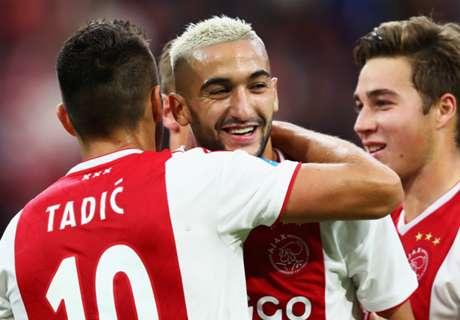 Red-hot Hakim Ziyech strikes in Ajax win