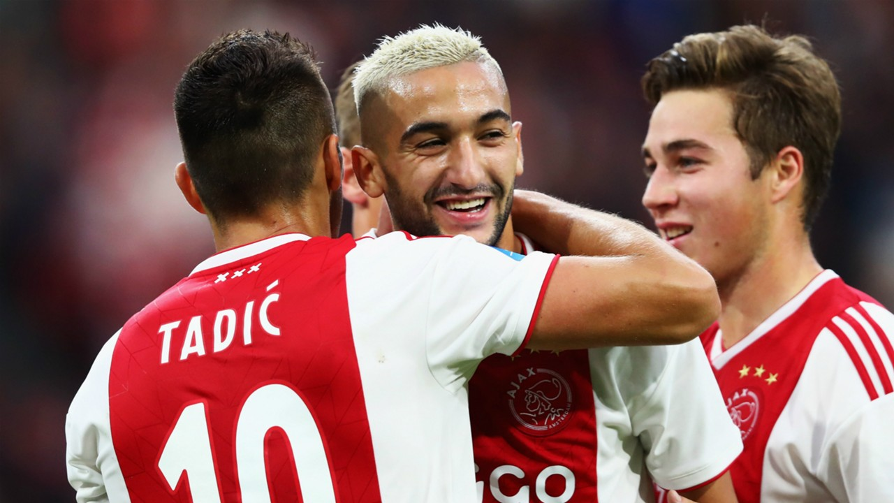 Red-hot Hakim Ziyech strikes as Ajax run riot over Excelsior
