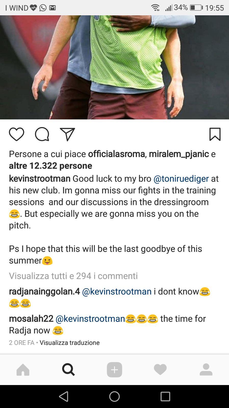 Screen Strootman Instagram