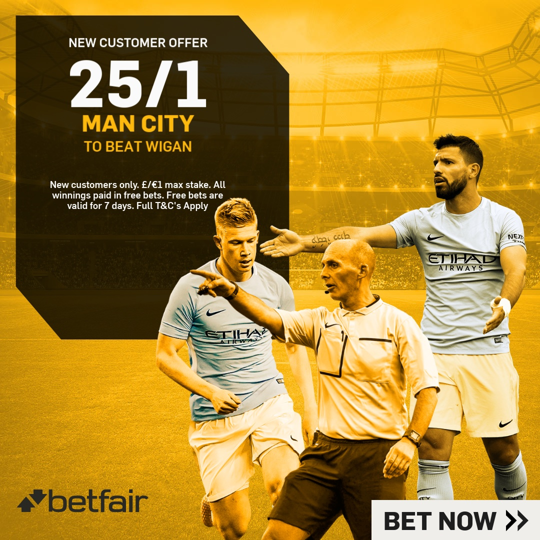 Betting: Enhanced FA Cup Odds Of 25/1 On Manchester City