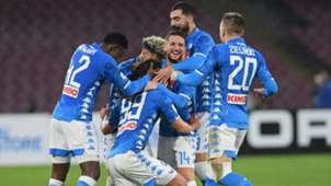 Napoli celebrating Napoli Lazio Serie A