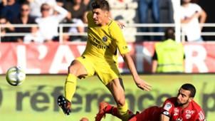 Thomas Meunier Naim Sliti Dijon PSG Ligue 1 14102017