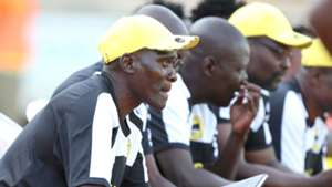 Tusker head coach George Nsimbe following the proceedings