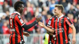 Mario Balotelli celebrating Nice Guigamp Ligue 1 29012017