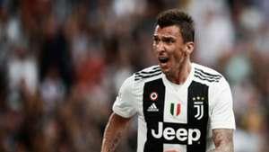 Mario Mandzukic celebrating Juventus Lazio