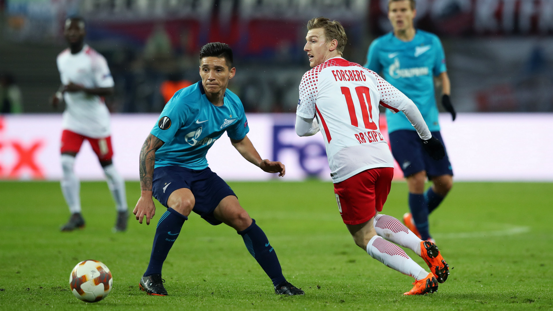 Matias Kranevitter Emil Forsberg Zenit RB Leipzig Europa League 08032018