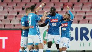 Napoli celebrating Empoli Serie A