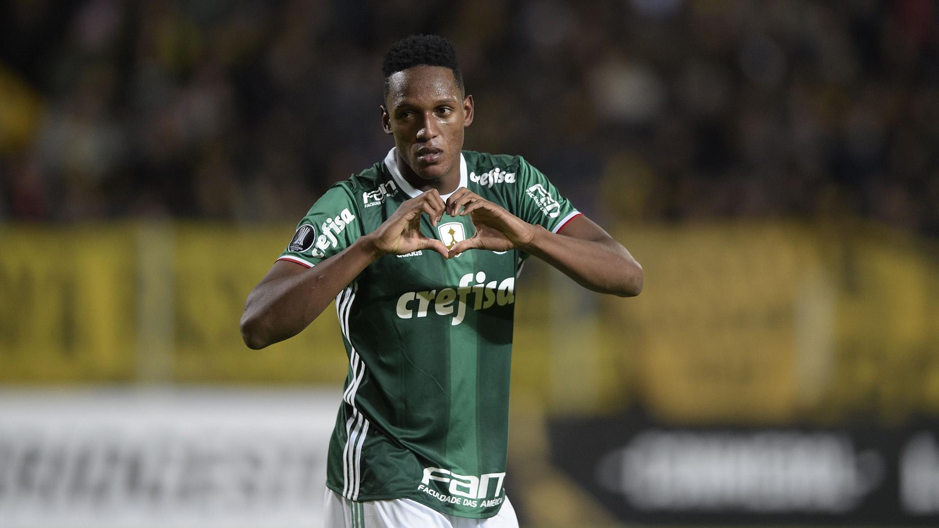 Yerry Mina Penarol Palmeiras Libertadores 26042017