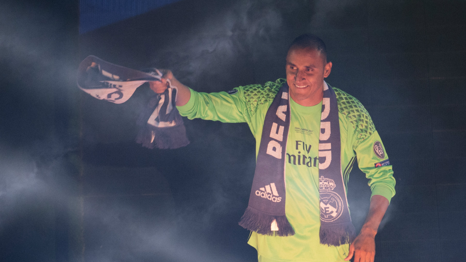 Keylor Navas Real Madrid celebration