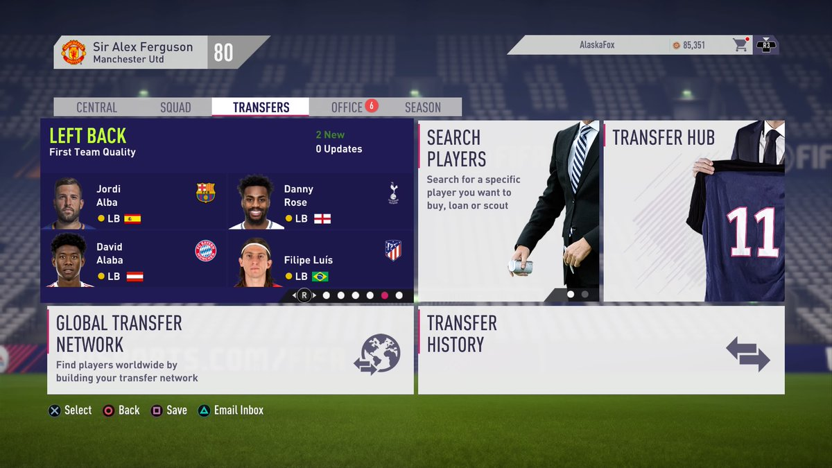 FIFA 18 Man Utd Career Mode