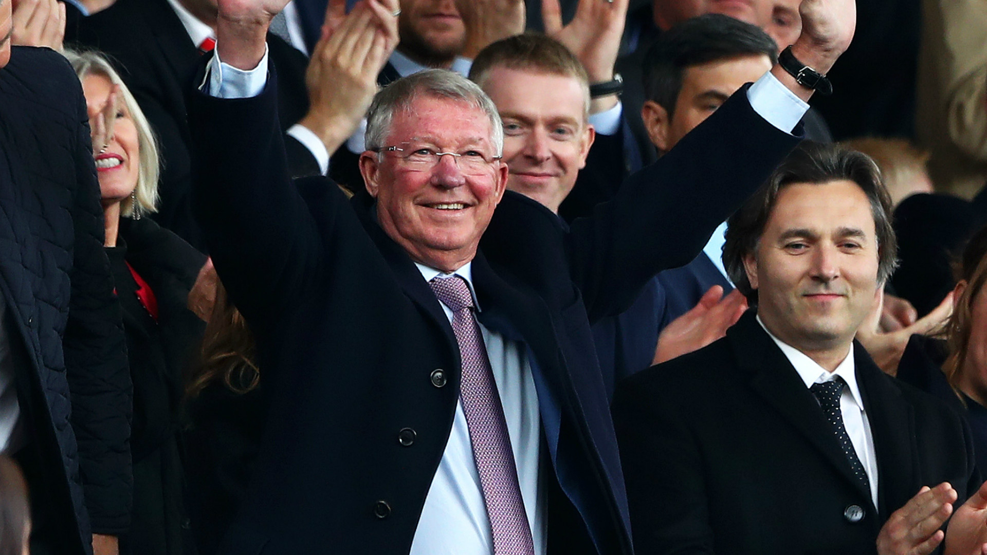 Ferguson returns to Old Trafford for first time since operation