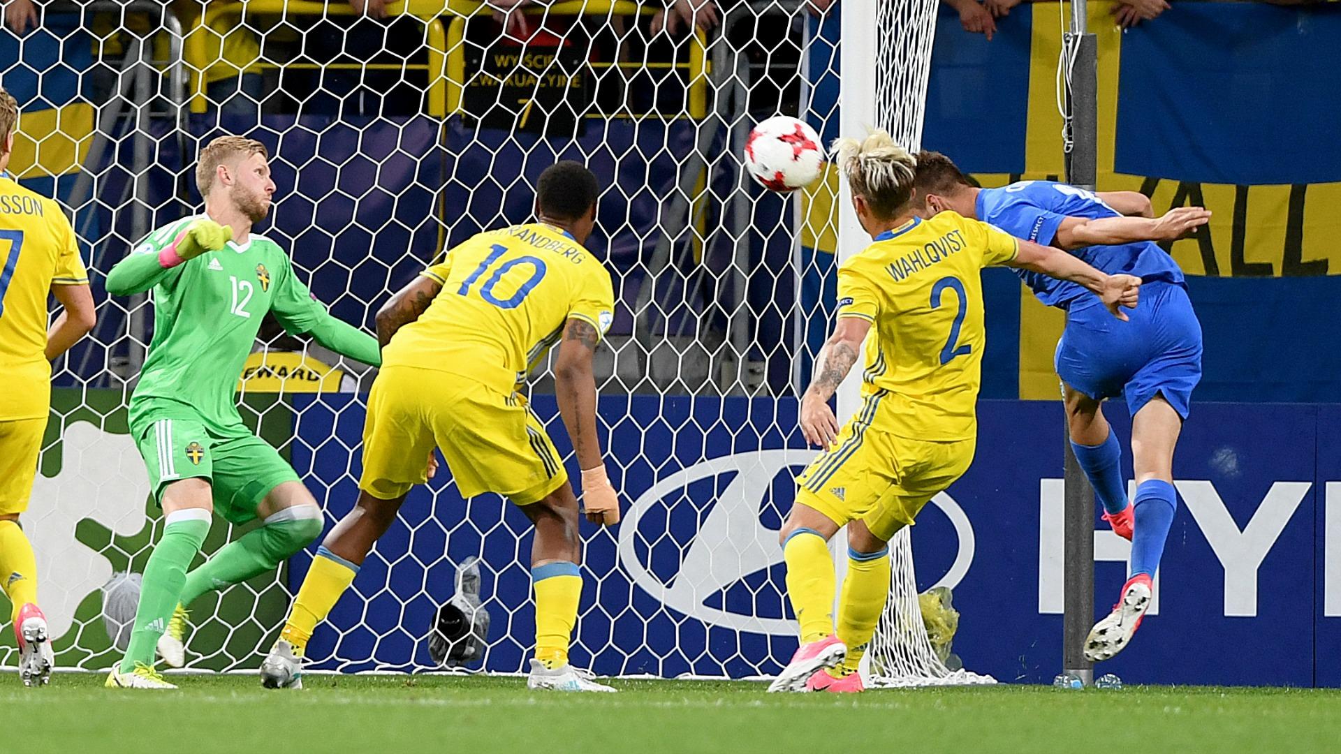 Martin Chrien scores Slovakia Sweden U21