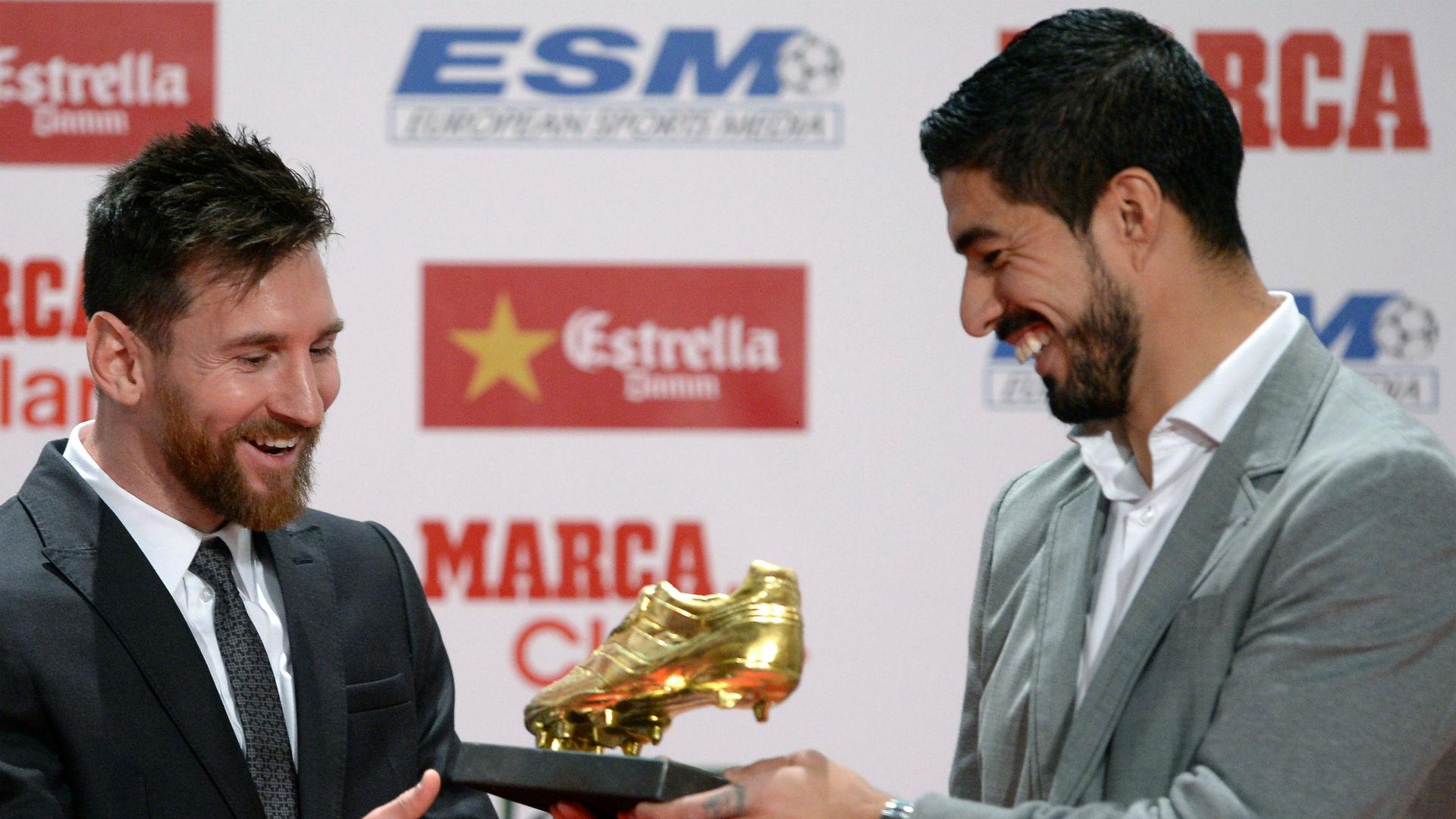Lionel Messi Luis Suarez Golden Shoe
