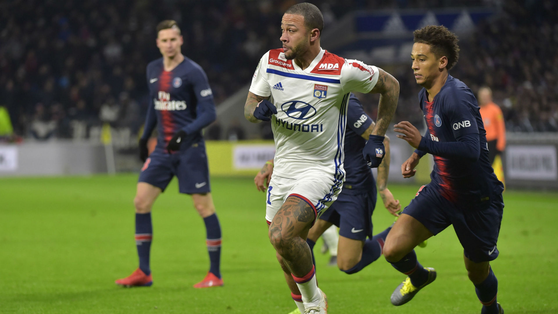 Memphis Depay Lyon PSG Ligue 1 03022019