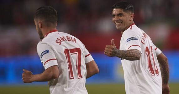 Sarabia Banega Sevilla Real Sociedad