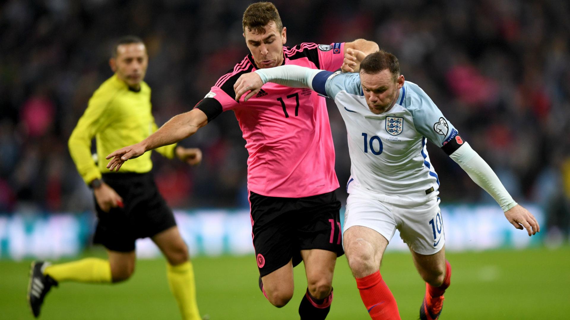 Wayne Rooney England v Scotland
